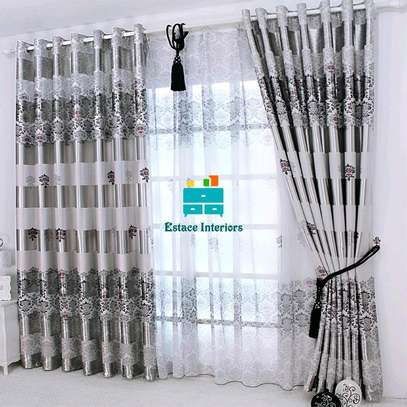 GREY BEAUTIFUL CURTAINS WITH SHEERS image 2