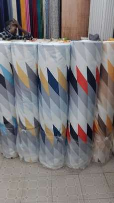 cheap European patterned fabric curtain and sheers image 10