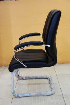 Spencer Cantilever Mid Back Leather Chairs image 2