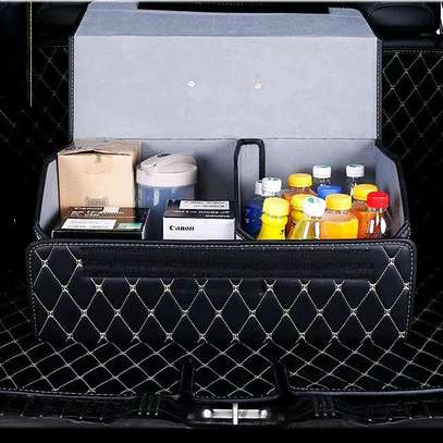 PU LEATHER CARBOOT ORGANIZER image 1