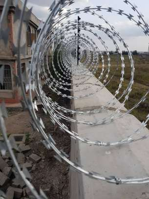 Electric fence and Double galvanised Razor wires Installation image 2