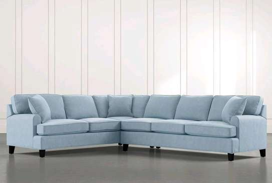 Six seater blue L shaped sofas/sofas for sale in Nairobi Kenya/modern sofas image 1