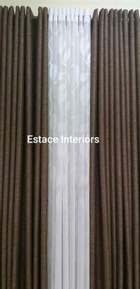 BROWN AND CREAM THEMED CURTAINS image 2