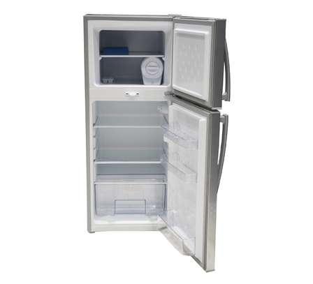 Mika Refrigerator, 118L, Direct Cool, Double Door, Dark Matt Stainless Steel image 1