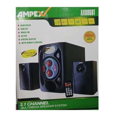 Ampex AX006BT 2.1CH SUB WOOFER SYSTEM BT/FM/SD/USB/AC/DC image 1