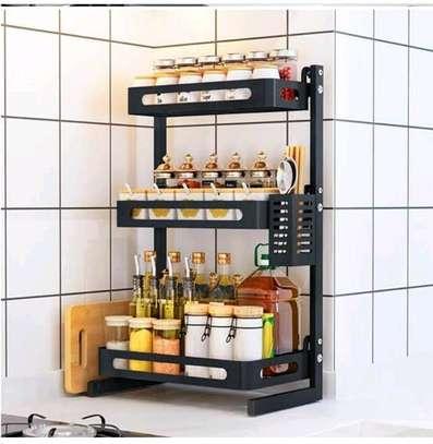 3 tier spice rack/kitchen organizer image 1