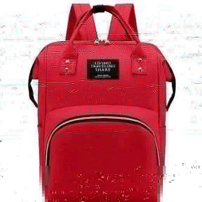 baby bag packs with insulation - red