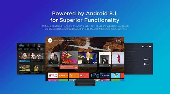 Xiaomi Mi Box S Android TV with Google Assistant Remote Streaming Media Player - Chromecast Built-in - 4K HDR - Wi-Fi - 8 GB - Black image 3