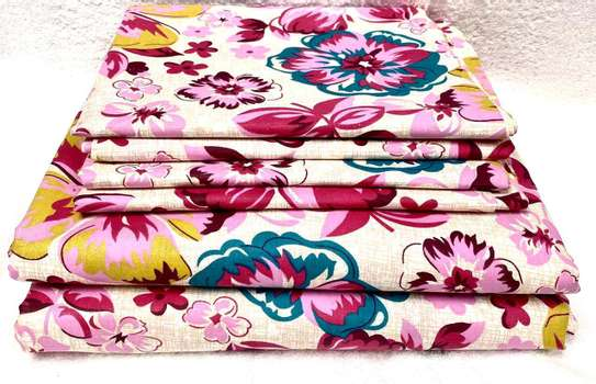 7 by 8 Lux core bed sheets sets with 1 Flat Sheet, 1 Fitted Sheet, and 4 Pillowcases. image 1