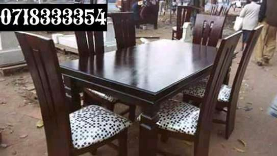 Simple Quality 6 Seater Mahogany Dining Table image 1