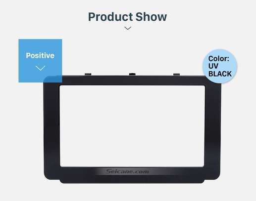 173*98mm Double Din 2015 Toyota Revo Hilux Car Radio Fascia DVD Frame Dash Mount Audio Fitting Adaptor image 1