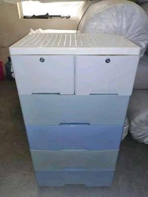 plastic chest drawer image 1
