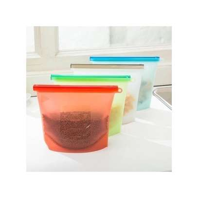 Reusable Silicone Food storage fridge Bags image 1