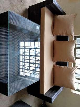 3-seater rattan sofa set image 4