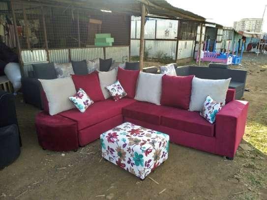 Blue Lshape Design Sofa image 1