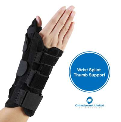 Wrist splint with thump support image 1