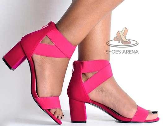 Open chunky heels image 5