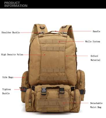 Military Bag 55L-Tactical Bag/Trekking/hiking/camping/Traveling bag image 11