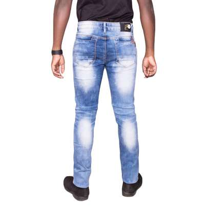 Blue Rugged Jeans image 3