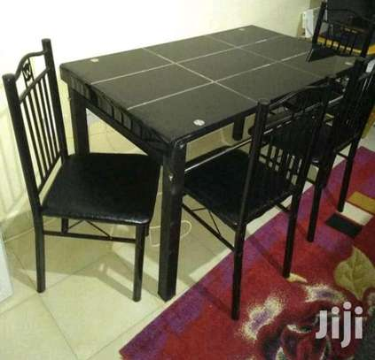 Detachable assembly dining table plus chairs image 1