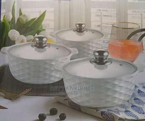 3 Pieces Set Ceramic Serving Dishes image 1