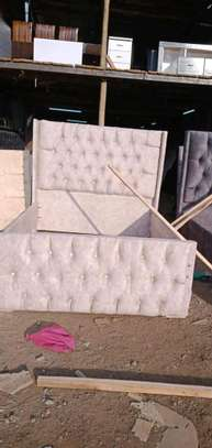 Bed 6*6 bed made by hand wood and good quality material maongany image 5