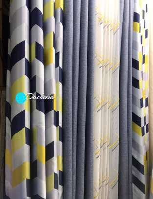blue double sided curtains image 1