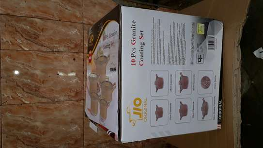 10pc granite sufuria/cookware/10pcs granite coating set image 3