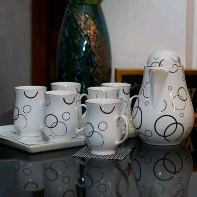 Fancy classy Ceramic Tea Pot, tray and cup set image 5