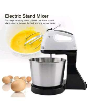 7 speed hand mixer with bowl. image 1