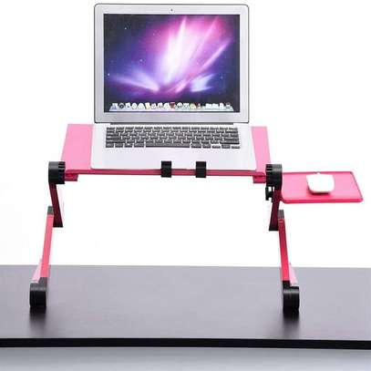 Laptop Stand- Adjustable Folding, Fan, Mouse Pad image 1