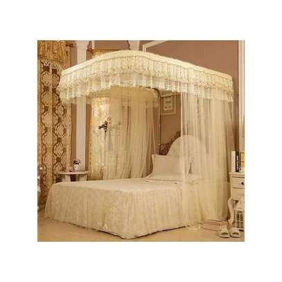 Two Stand Mosquito Net With Sliding Rails-5X6 OR 6X6 image 2