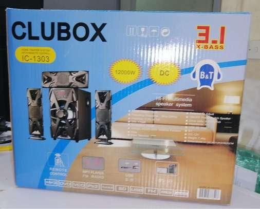CLUBOX IC-1303 3.1 HI-FI Multimedia Speaker System Black image 1