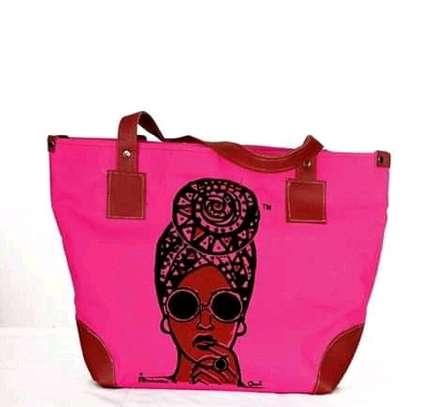 Ladies queen handbag,pink image 1