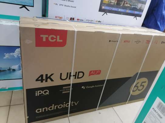 Tcl 65 inches smart android 4k ipq 617 tv image 1