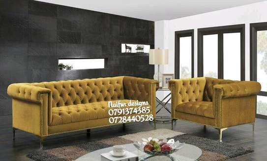 Three seater sofas/two seater sofas/five seater sofas/yellow seats/tufted sofas/buttoned sofas image 1