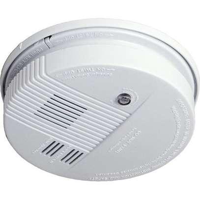 Smoke detector fire alarm detector Independent smoke alarm sensor for home office Security photoelectric smoke alarm - White image 1