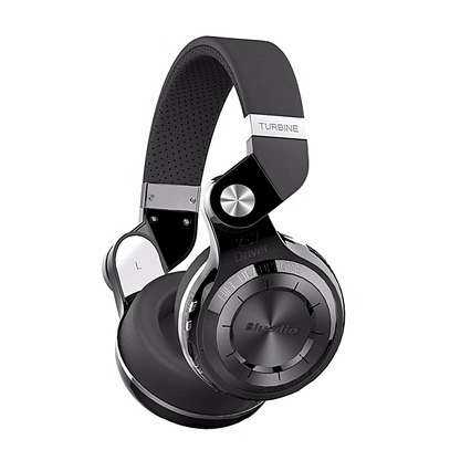 Bluedio T2+ Wireless Bluetooth V4.1 Stereo Headphones with Microphone Headset Support TF Card FM Function - Black