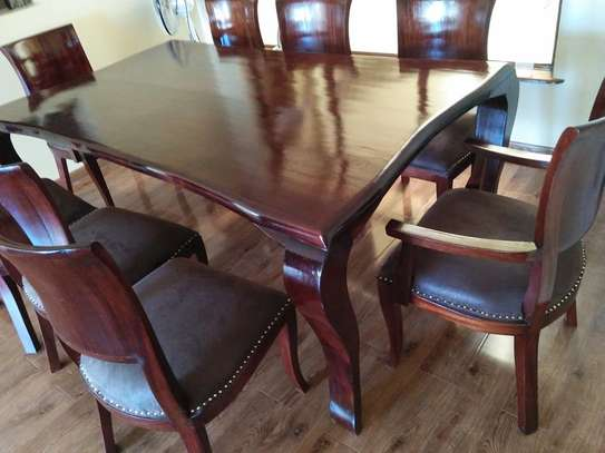 8 Seater Mahogany Dining Sets. (Vintage look) image 1