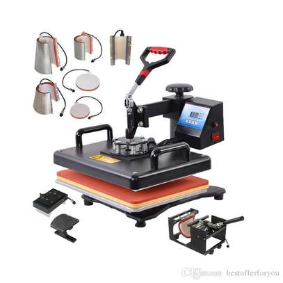 8 in 1 Combo Heat Press Machine Sublimation Heat Press Heat Transfer Printer For Mug/Cap/T shirt image 2