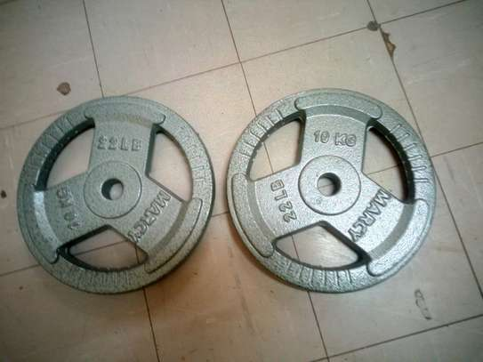 10Kg Pair Standard Weight Plates image 1