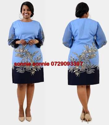 SKY BLUE TURKEY SHIFT DRESS image 1