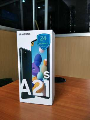 Samsung Galaxy A21s brand new and sealed in a shop.