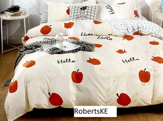 white and strawberry print duvet image 1