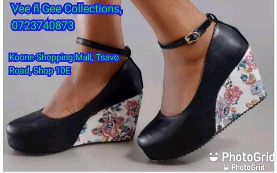 Floral light heel wedges image 1