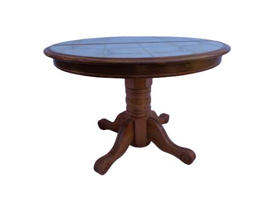 Marble top 6 sitter dining table