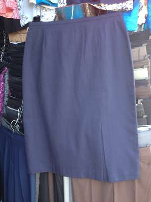 Navy Blue Skirt With Pleats image 1