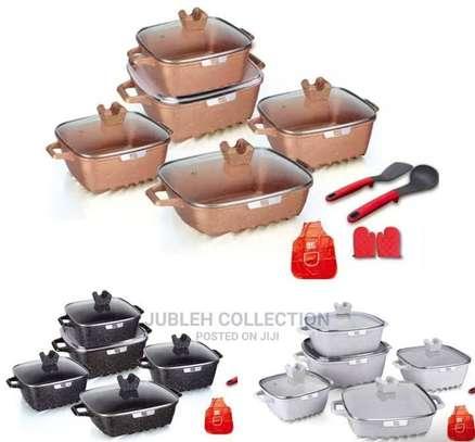 15pcs Square Cookware Set image 1