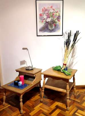 Late 20th Century Collection Vintage American Solid Maple Style Accent End Tables / Set of Two*