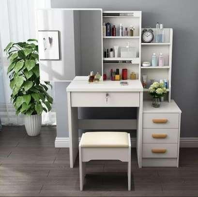 Dressing mirror tables plus stool set image 1